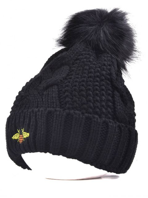 outfits Pom Ball Flanging Bee Knitted Beanie -   Mobile