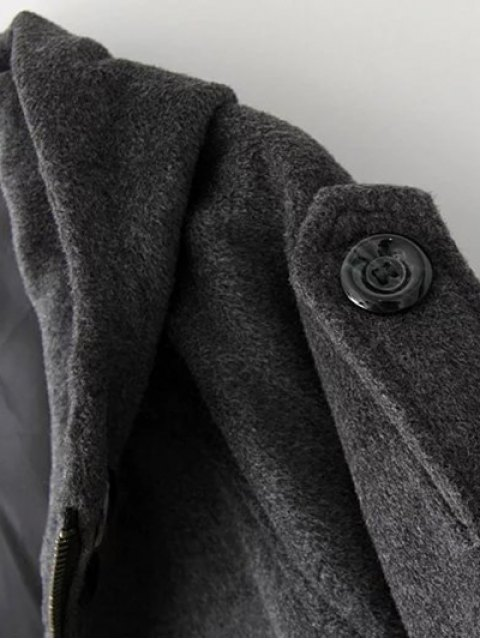 shops Hooded Wool Coat - DEEP GRAY S Mobile