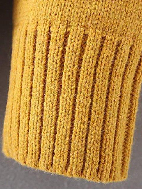 shops Side Slit Asymmetric Sweater - GRAY ONE SIZE Mobile