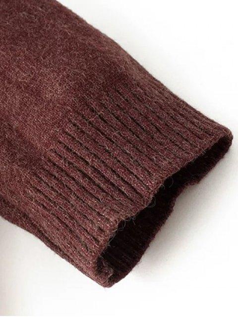 buy Long Sleeve Hoodie Sweater - ORANGE ONE SIZE Mobile