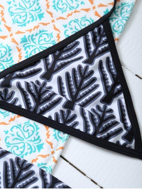 outfits Tree Branch Halter Bikini - BLACK L Mobile