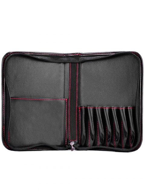 ladies Faux Leather Makeup Storage Bag Cosmetic Bag -   Mobile