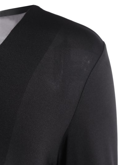 Cut Out Lace-Up Bodysuit - BLACK M Mobile