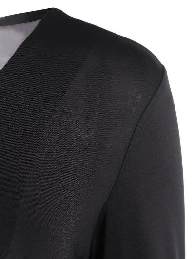 Cut Out Lace-Up Bodysuit - BLACK S Mobile