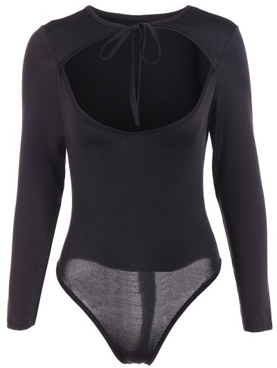 String Choker Bodysuit - BLACK XL Mobile