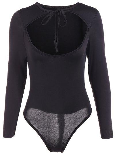 String Choker Bodysuit - BLACK L Mobile