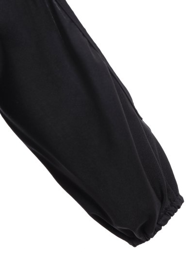 Ruched Split Sleeve Bodysuit - BLACK L Mobile