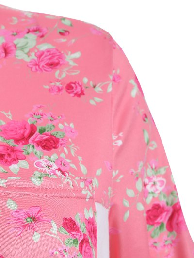 Loose Floral T-Shirt - WHITE XL Mobile