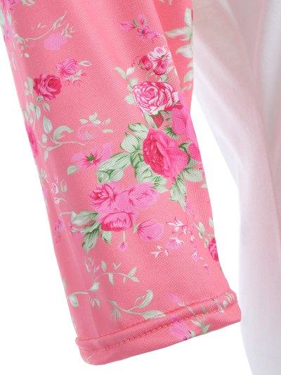 Loose Floral T-Shirt - WHITE L Mobile