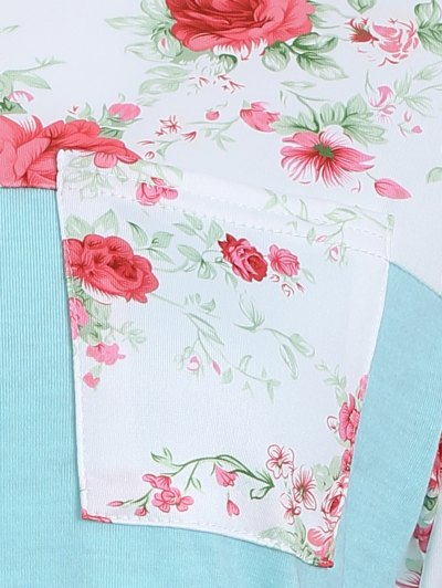 Loose Floral T-Shirt - GREEN XL Mobile