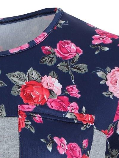 Loose Rose T-Shirt - GRAY M Mobile