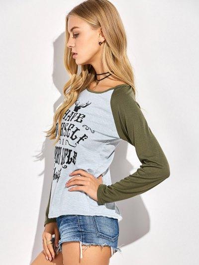 Christmas Letter T-Shirt - GRAY XL Mobile
