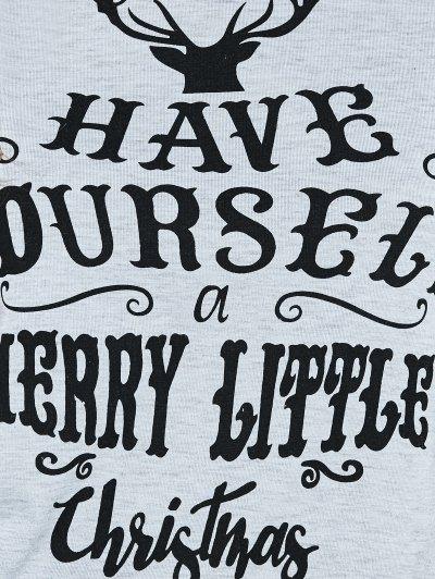 Christmas Letter T-Shirt - GRAY M Mobile
