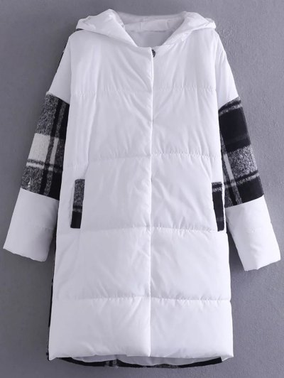 Hooded Padded Winter Coat - WHITE ONE SIZE Mobile