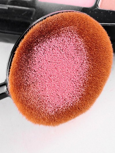 Toothbrush Shape Blush Brush - BLACK  Mobile