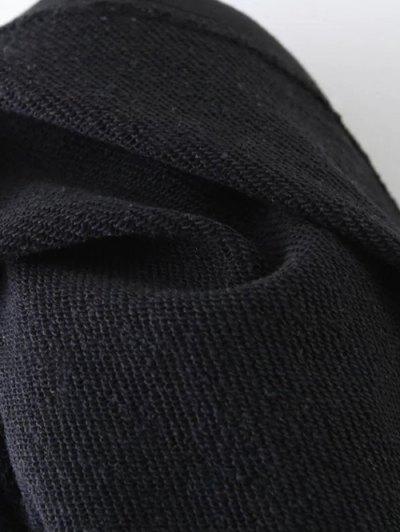 Tiny Flower Embroidered Sweatshirt - BLACK M Mobile