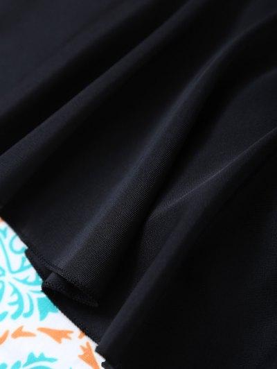 Padded Ruffles Top With Cutout Briefs Bikini - BLACK S Mobile