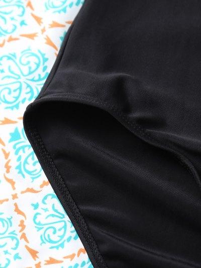 Cut Out One-Piece Swimwear - BLACK L Mobile