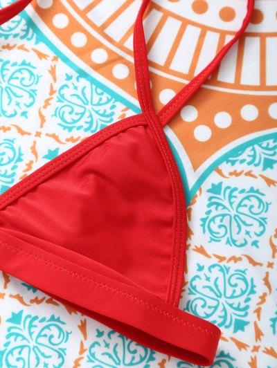 Unlined Cami Bikini - RED L Mobile