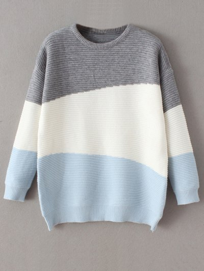 Oversized Comfy Sweater - BLUE ONE SIZE Mobile