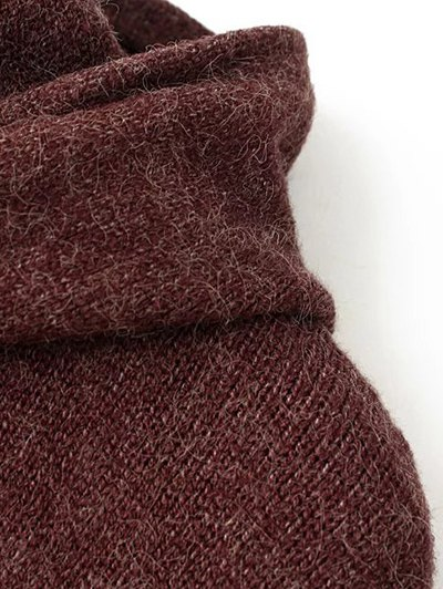 Long Sleeve Hoodie Sweater - ORANGE ONE SIZE Mobile