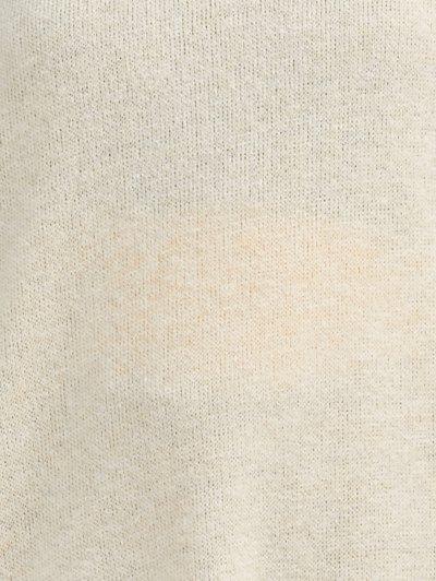Side Zipper Sweater Dress - BEIGE M Mobile
