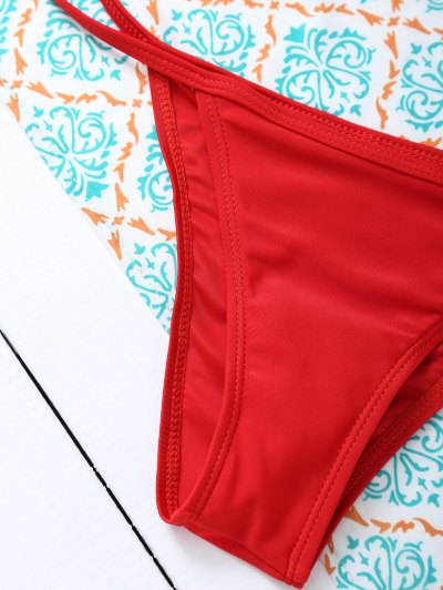 Unlined Cami Bikini - RED XL Mobile