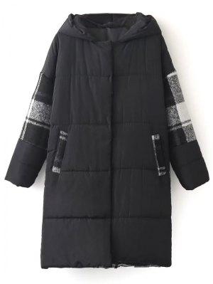 Hooded Padded Winter Coat - Black