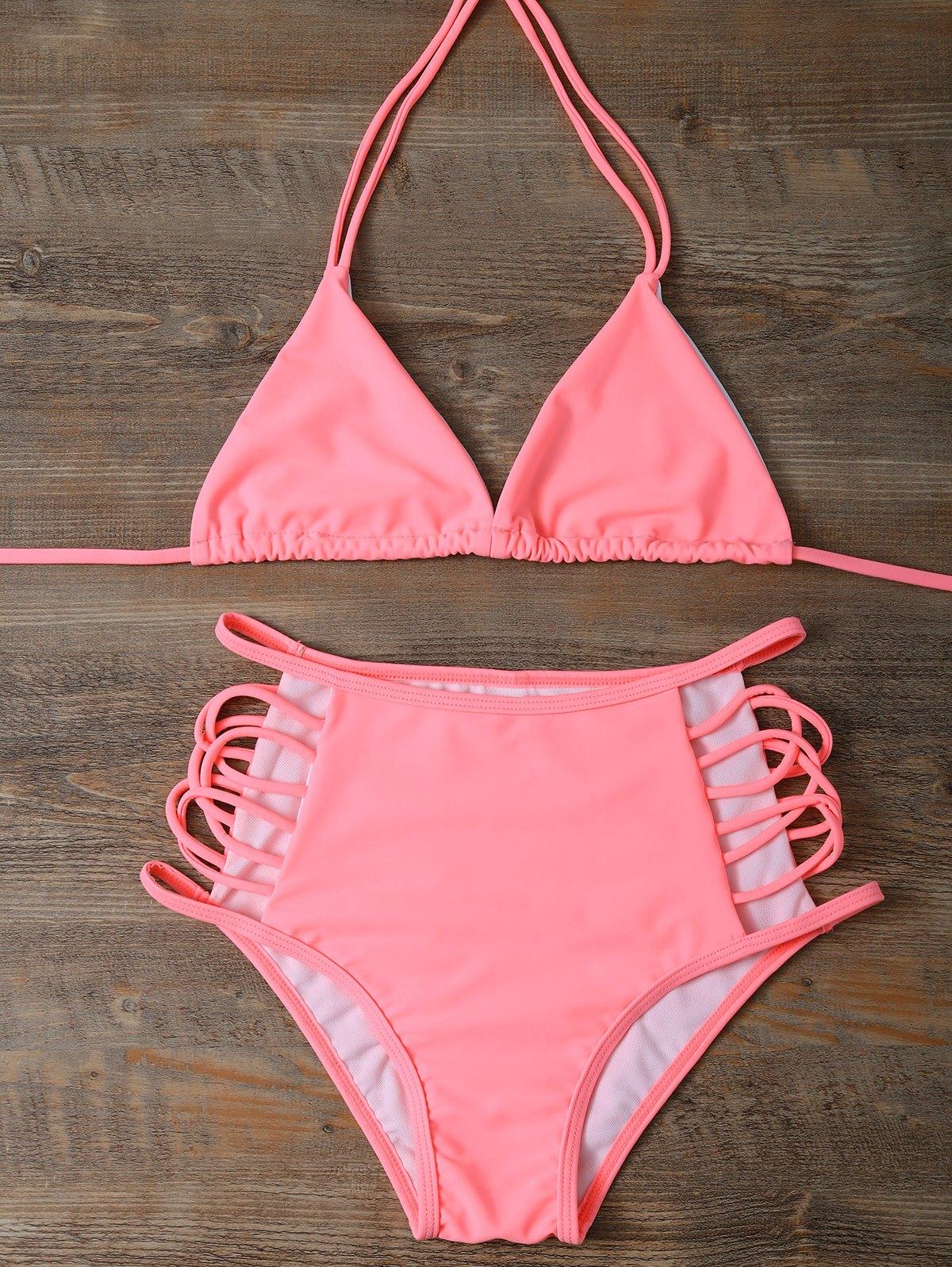 Cut Out High Waist Bikini Set