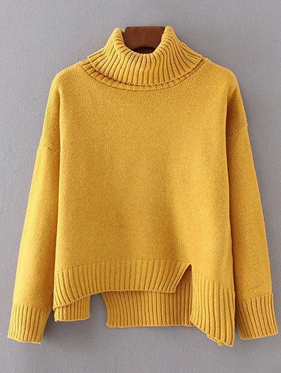 Asymmetric Side Slit Sweater
