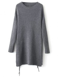 Longline Side Slit Sweater