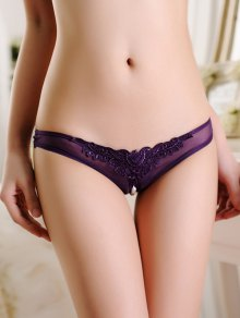 See Through Split Panties - Purple