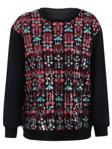 Embroidered Sequined Sweatshirt