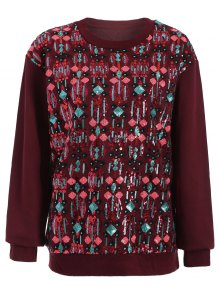 Embroidered Sequined Sweatshirt