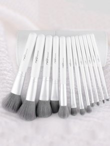 12 Pcs Fiber Makeup Brushes Kit