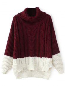Cowl Neck High-Low Sweater