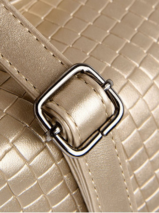 Argyle Double Buckle Chain Tote Bag - GOLDEN  Mobile