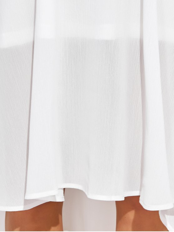 Sexy Backless High Low Slip Dress - WHITE XL Mobile