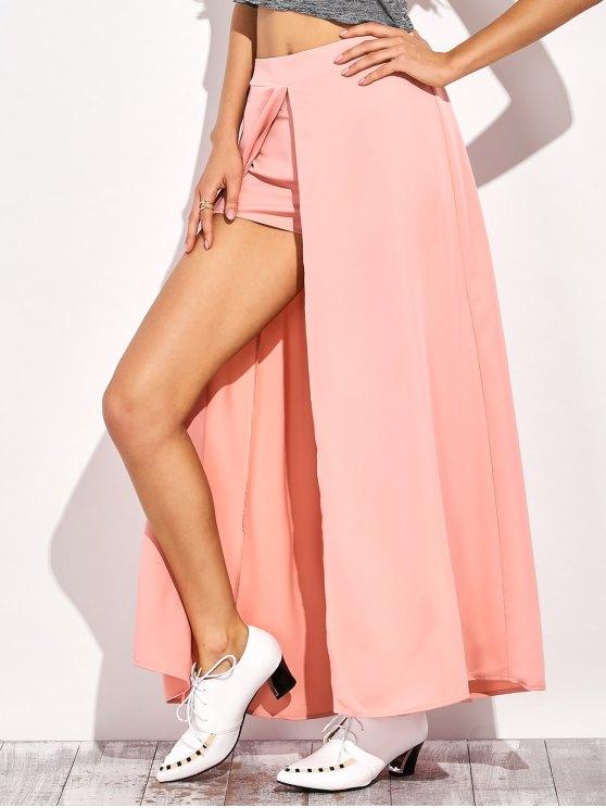 Pantalones cortos de la falda maxi - Rosa S