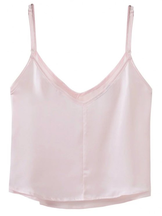Adjusted Satin Camisole - LIGHT PINK M Mobile