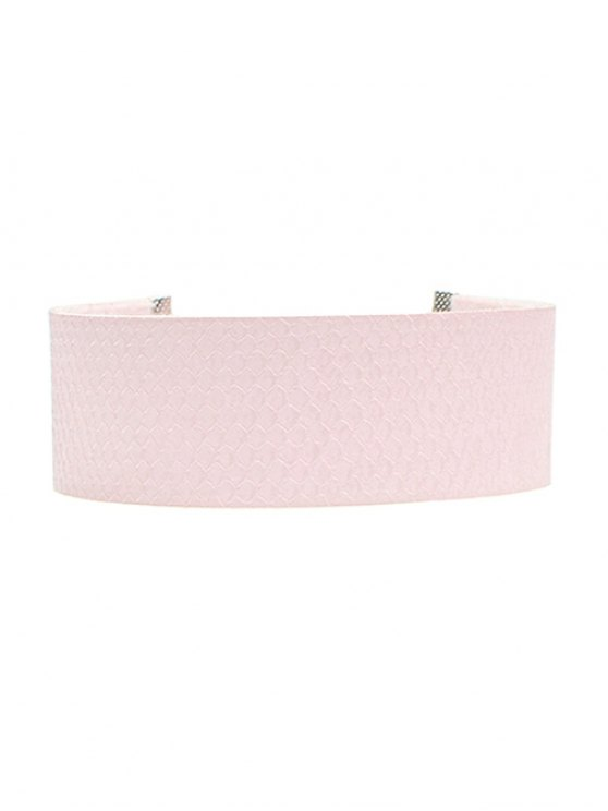 Fish Scales PU Choker Necklace - PINK  Mobile