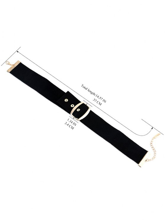 Belt Buckle Choker - BLACK  Mobile