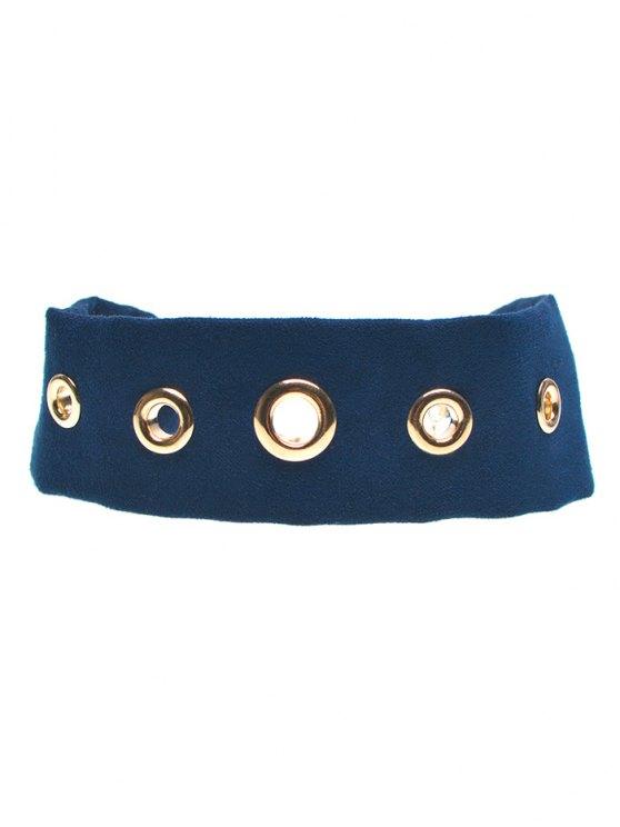 Suede Rivet Choker Necklace - CADETBLUE  Mobile