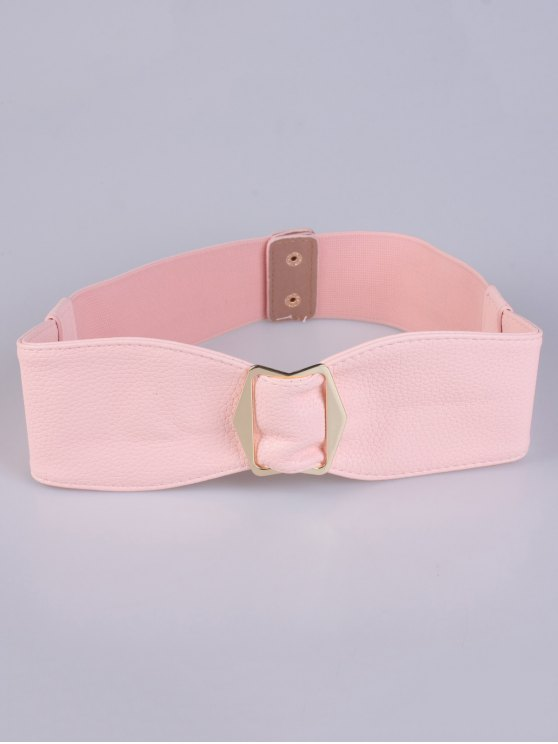 Bowknot Buckle Stretch Belt - SHALLOW PINK  Mobile