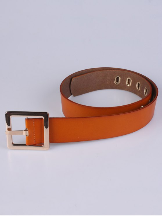 Square Buckle Belt - CHOCOLATE  Mobile