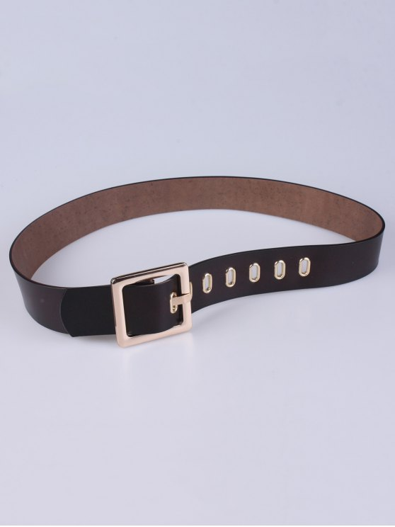 Square Buckle Belt - COFFEE  Mobile