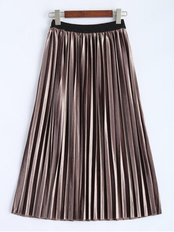 women's Accordion Pleat Skirt - COFFEE ONE SIZE