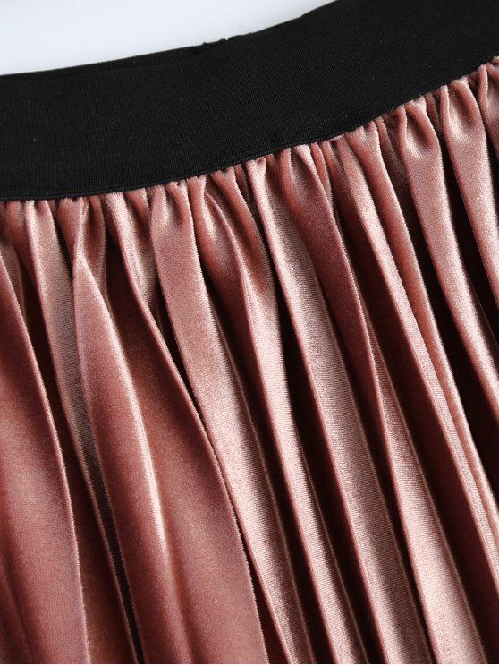 Accordion Pleat Skirt - DEEP PINK ONE SIZE Mobile