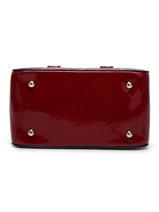 Embossed Metal Trimmed Handbag -   Mobile
