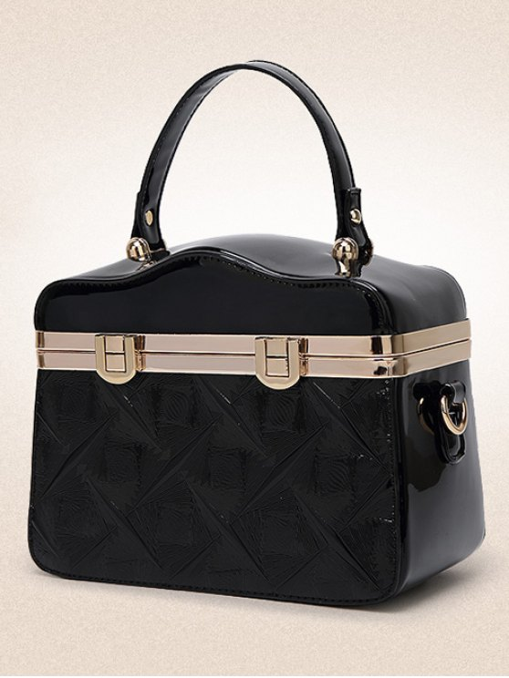 Embossed Metal Trimmed Handbag -   Mobile